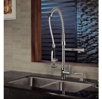 Kraus Kpf 1602 Single Handle Pullout Spray Pre Rinse Style Kitchen Faucet With Pot Filler