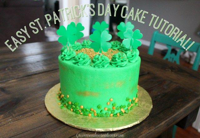 Easy St. Patricks Day Cake Tutorial!