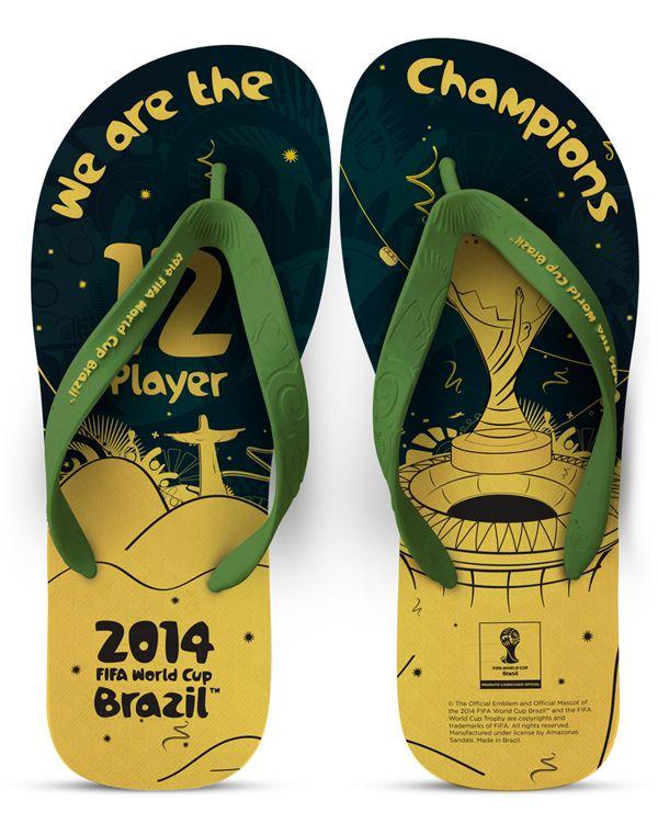 Sandália da Final FWC Brasil 2014 (Estampa) by Felipe Ferreira