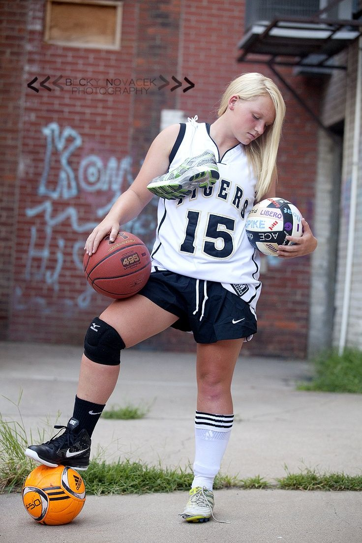 Senior Portrait Photo Picture Idea Girls Multiple Sports Sports Photography Basketball Senior Pictures Sports Pictures