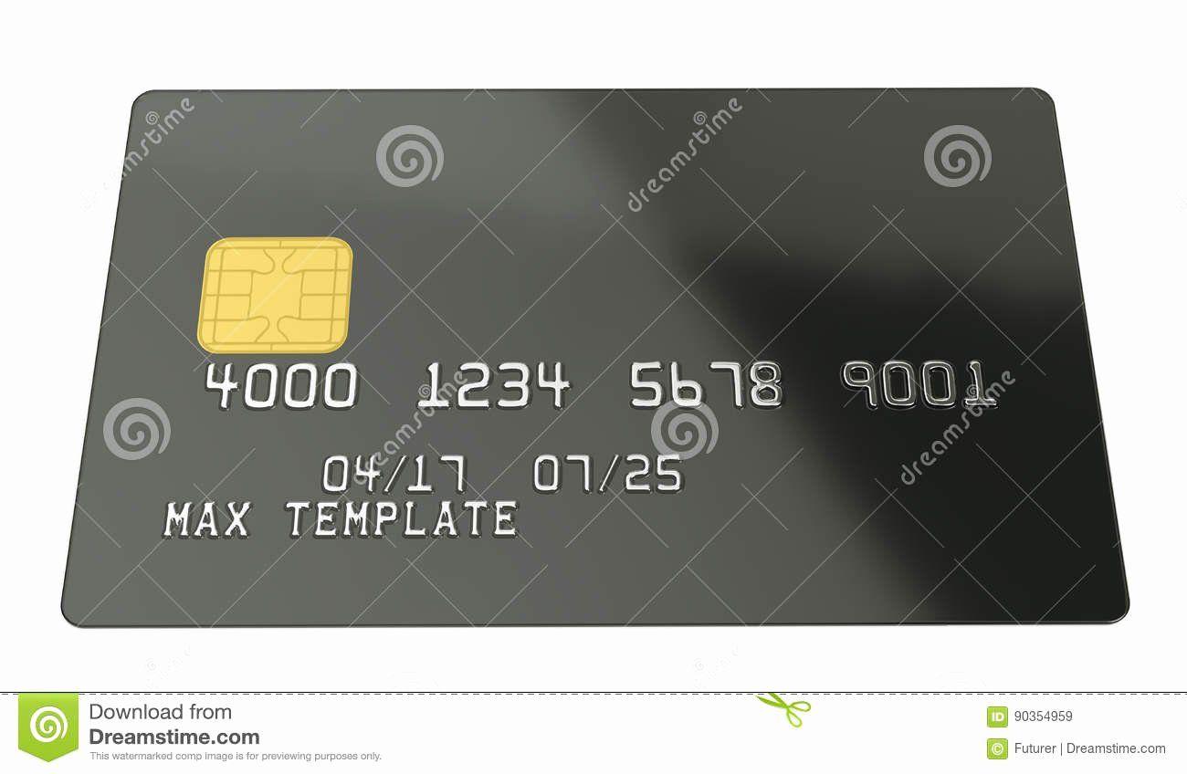 Blank Credit Card Template Inspirational Blank Black Credit Card Template White Background 3d Card Template Templates Credit Card