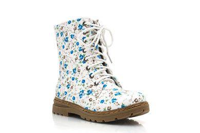 Go Jane Floral Print Combat Boots
