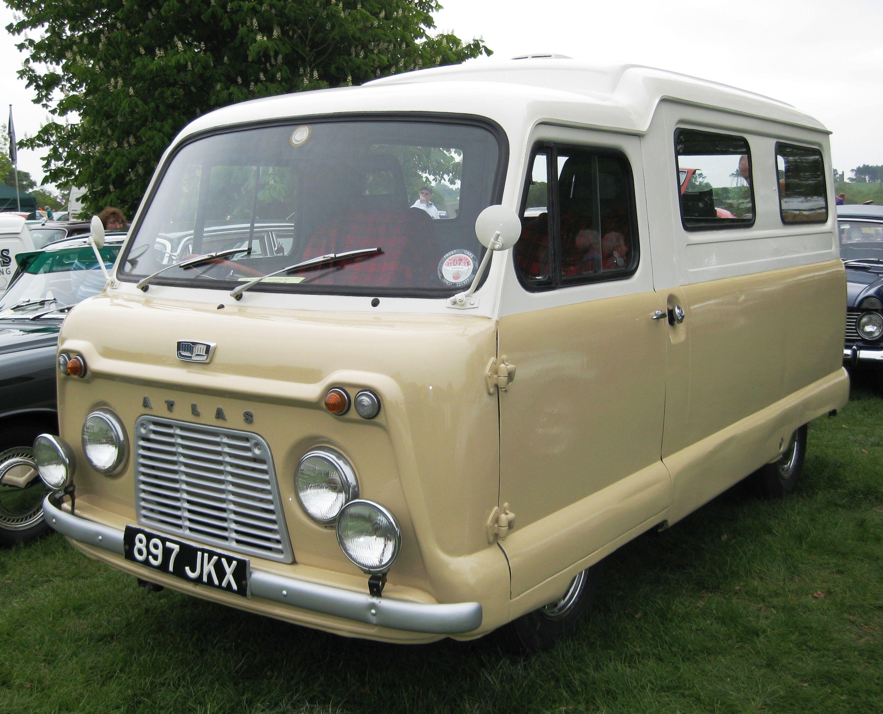 Atlas van with side windows first registered september 1959
