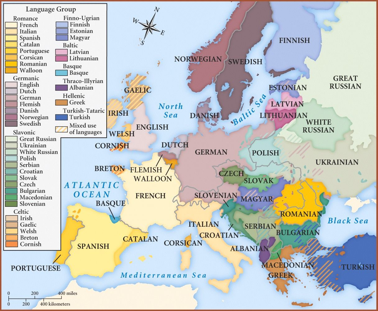 Linguistic Maps Of Europe Europe Language Europe Map Map