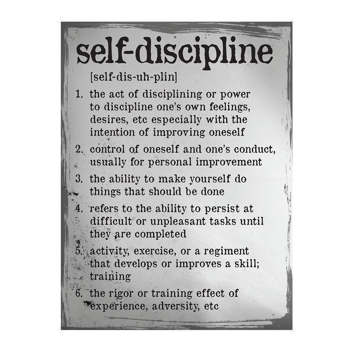 Definition of a poster design - Self Discipline Definition Poster
