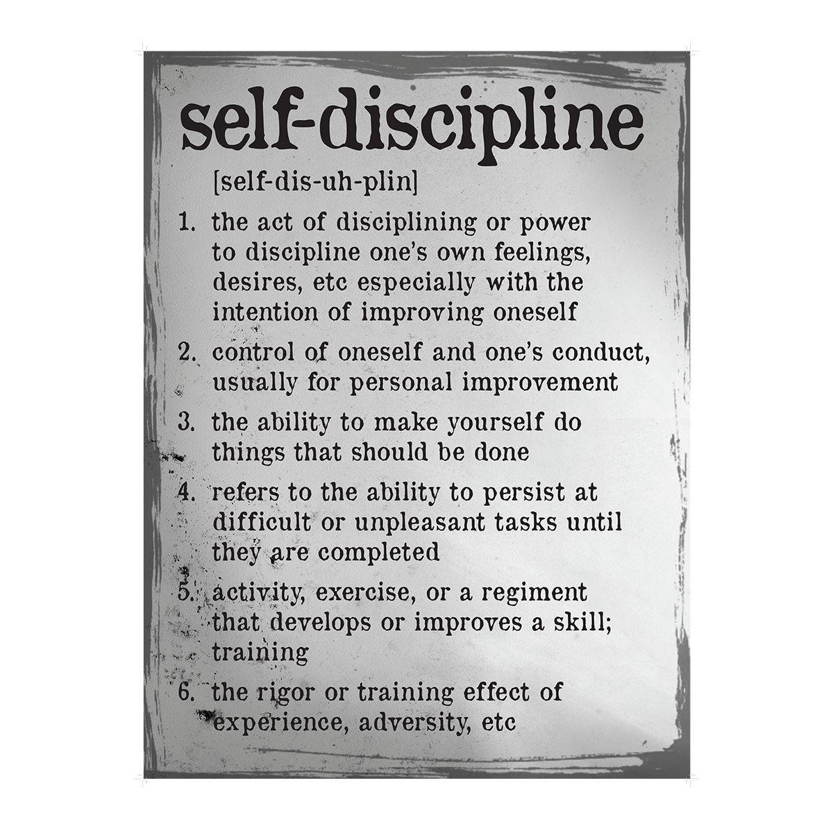 Self Discipline Definition Poster