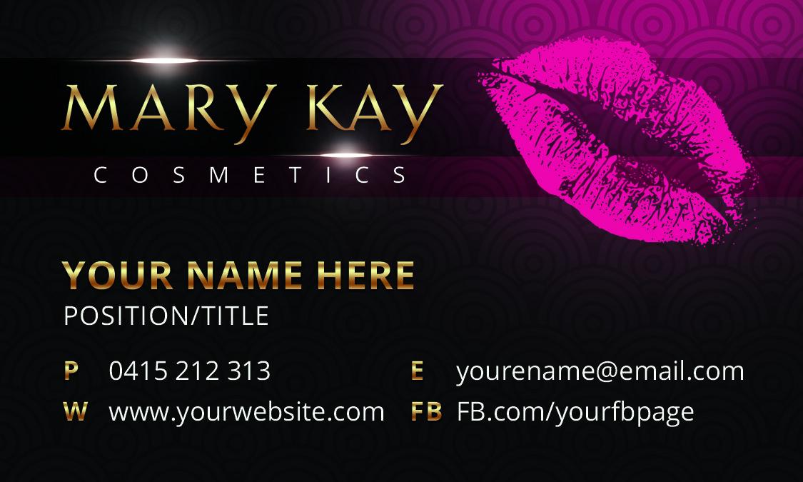 Mary Kay Business Card Template Gold Tarjetas Tarjetas De Presentacion Invitaciones