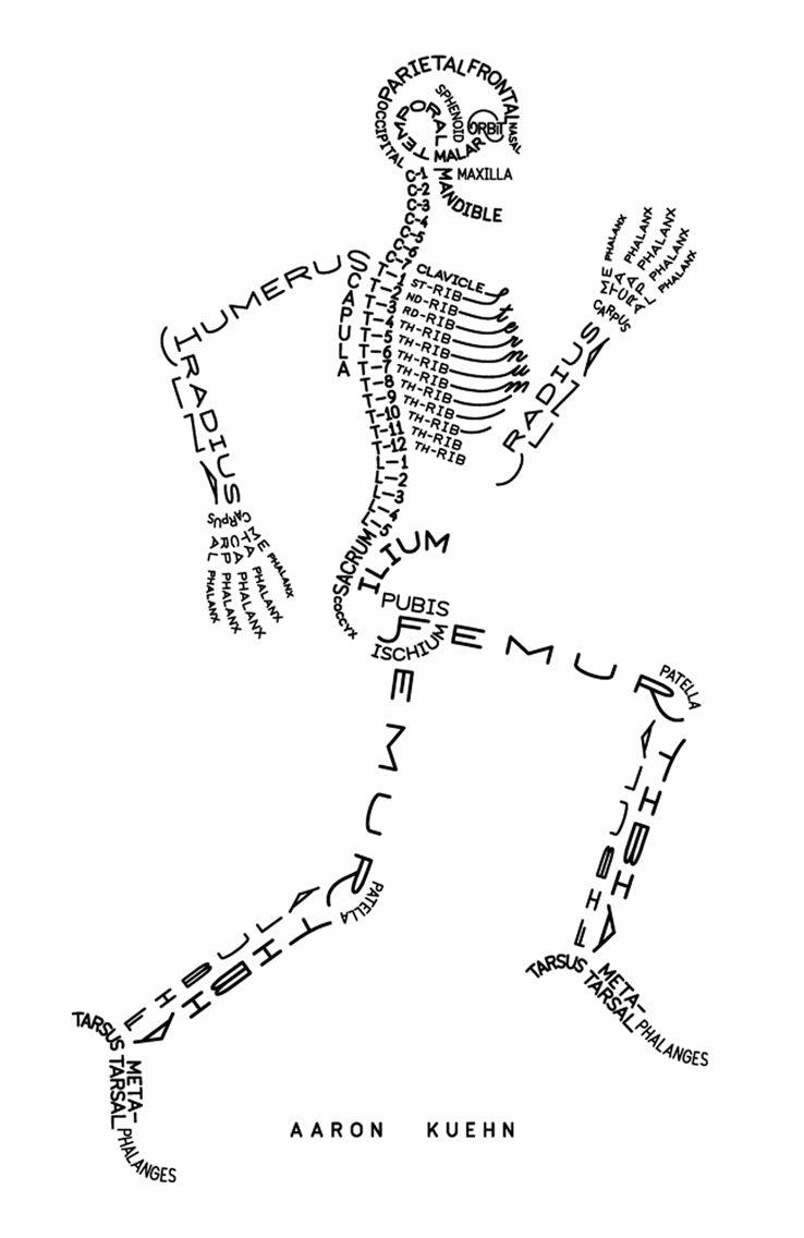aaron kuehn skeletal print