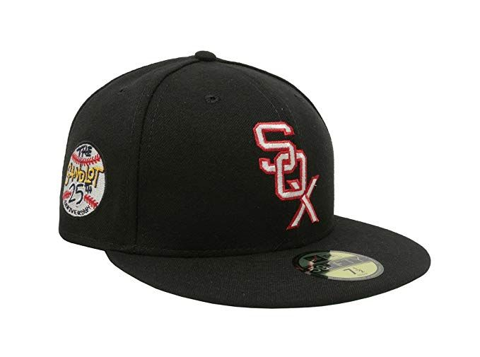 eea2d9e263e New Era Men s Hat Chicago White Sox Sandlot 25th Anniversary 59Fifty Fitted  Black Cap Review