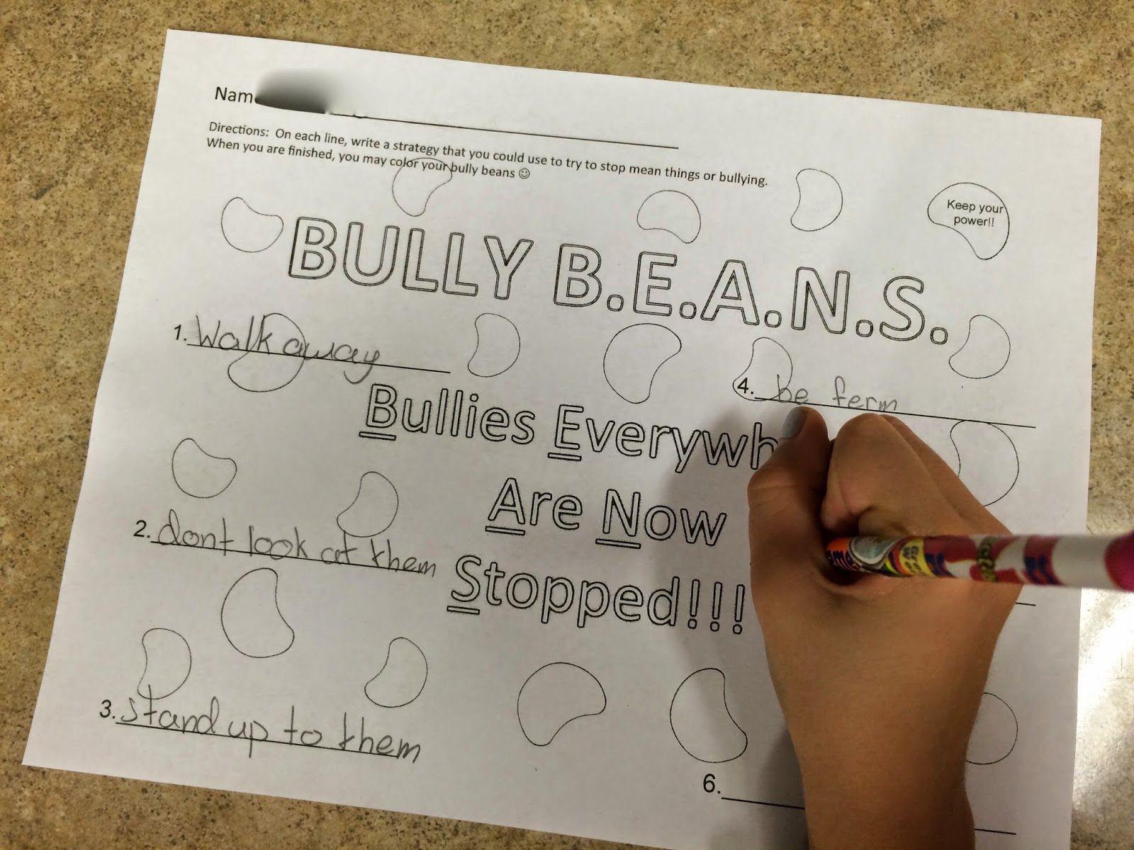 Ms Sepp S Counselor Corner Bully B E A N S