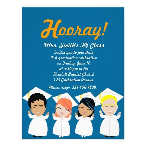 elementary GRADUATION invitation or announcement | 5th ...