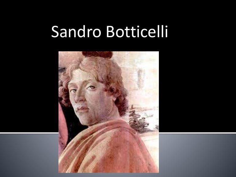Sandro Botticelli  - Prof. Altair Aguilar