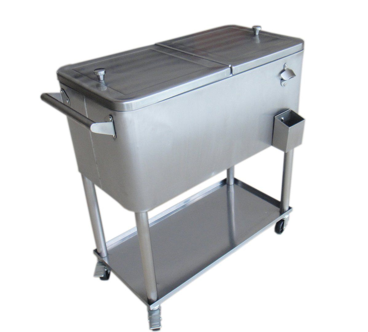 Stainless Steel Patio Cooler With Bottom Tray,