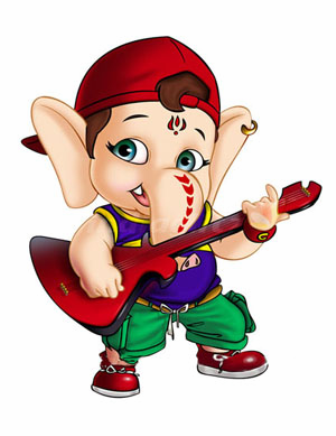 ganesh chaturthi funny cartoon animated images pictures