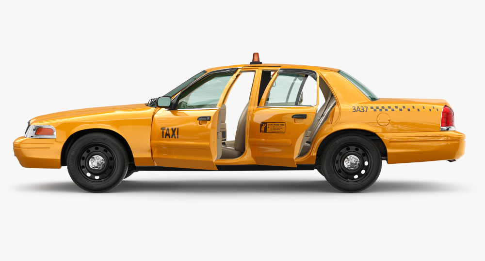3d Cab Taxi Yellow Model Turbosquid 1266249 Yellow Taxi Taxi Cab