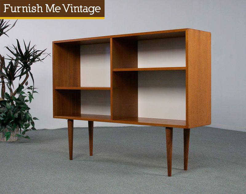 Vintage Danish Modern Teak Bookcase Furnish Me St