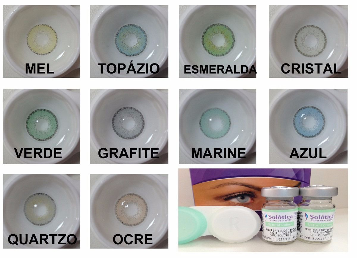 8373425425 Lentes De Contato Solotica Natural Colors Colorida Anual - R$ 137 ...