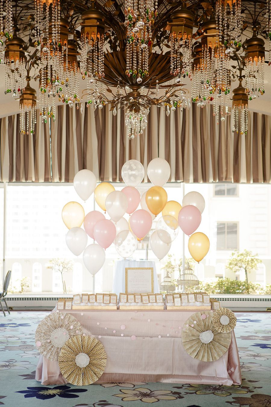 Wedding decoration ideas balloons  Whimsical and Elegant Ballroom Wedding at Fairmont San Francisco