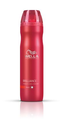 Wella Brilliance Shampoo for color-treated hair. We love this stuff and have it in stock at Salon DeVal in Little Rock, AR