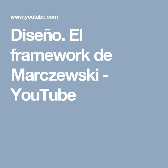 Diseño. El framework de Marczewski - YouTube   Gamificación ...