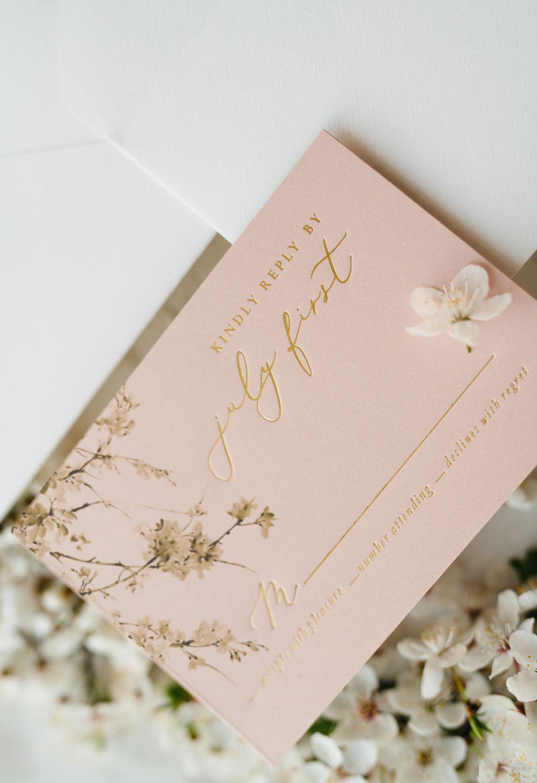 7 00 Romantic Handmade Wedding Invitation Design With Modern Calligraphy In 2020 Pastel Wedding Invitations Personalised Wedding Invitations Fun Wedding Invitations