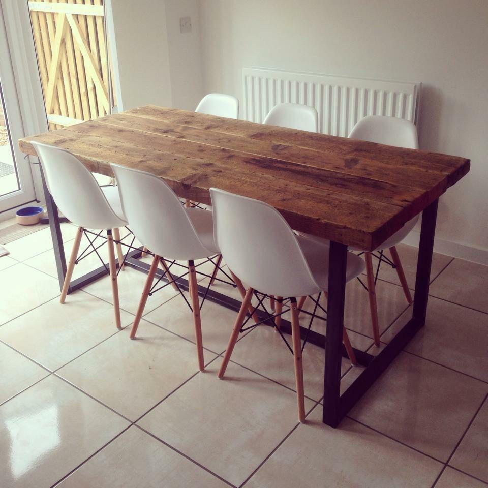 Home Retro Industrial Wood Reclaimed Rustic Metal Charles