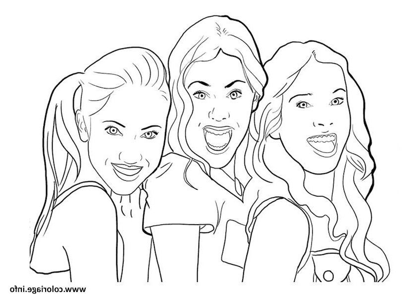 Violetta Et Ses Copines Coloriage Sketches Coloring Pages