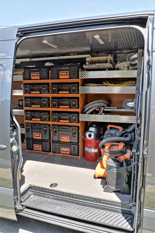2017 Mercedes Sprinter With Custom Shelving Van Shelving Van