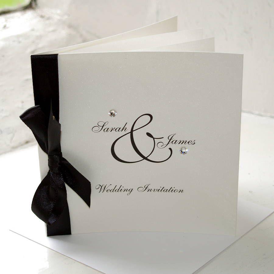 Diamante Wedding Invitation | Weddings, Wedding things and Wedding
