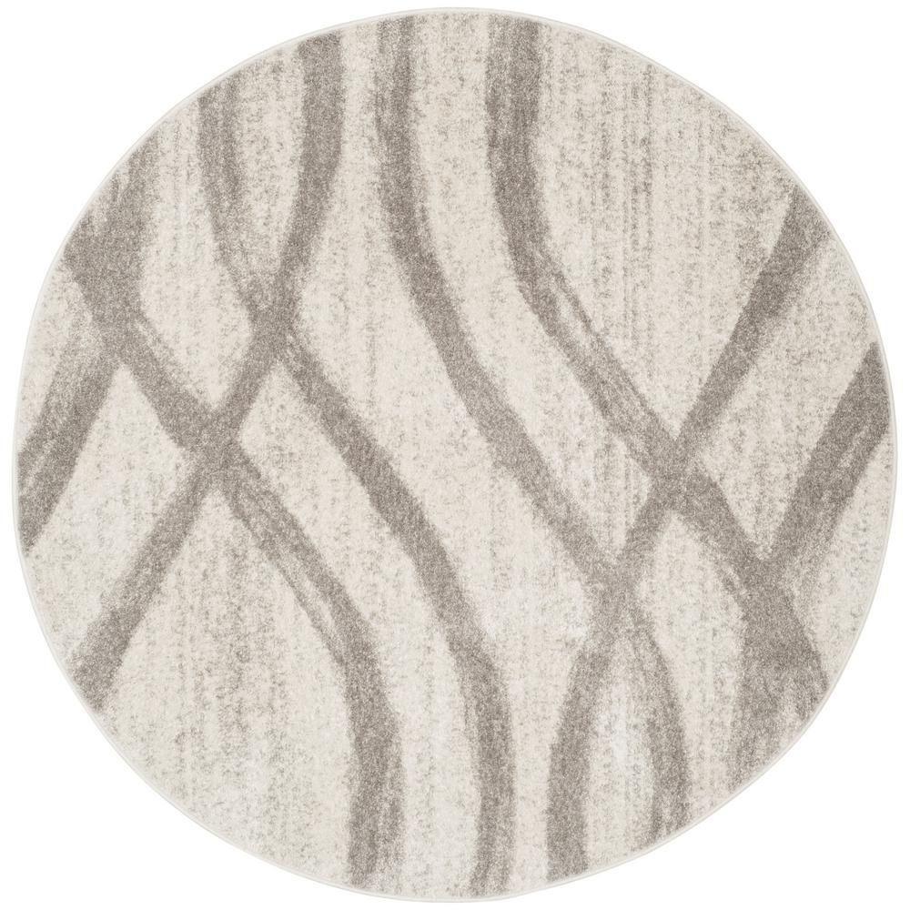 Safavieh Adirondack Cream Gray 8 Ft X 8 Ft Round Area Rug