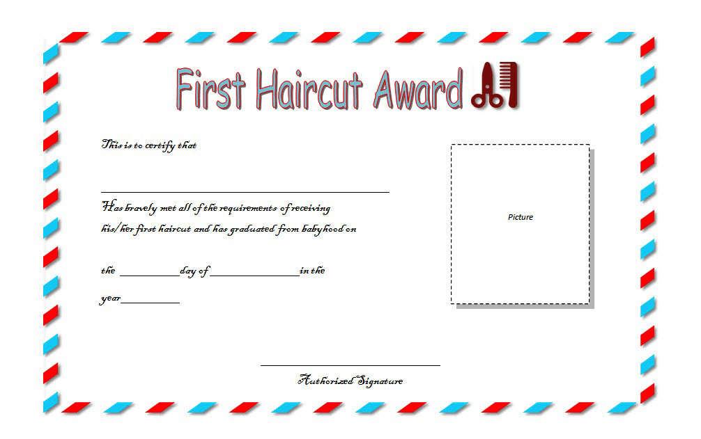 Pin On First Haircut Certificate Printable Free