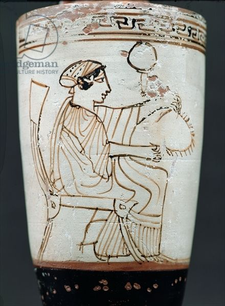 Attic White Ground Lekythos Depicting A Woman Plaiting A Wreath C 475 420 Bc Pottery Tymbos Painter Ancient Greek Pottery Ancient Greek Art Ancient Greece