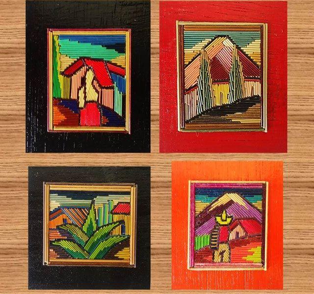 Como hacer lindos cuadros de popotillo o pajilla de colores de colores pajas y cuadro - Cuadros de colores ...