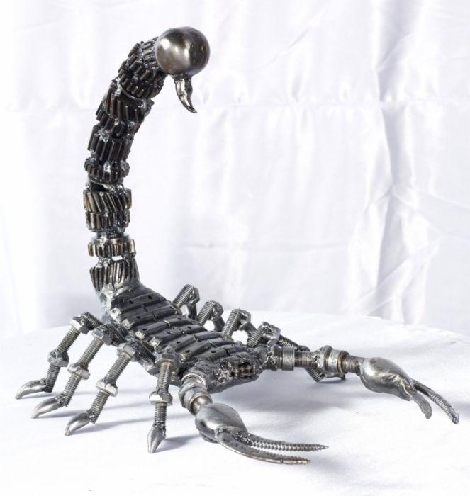 Scorpion Statue Sculpture Figure Life Size Scrap Metal