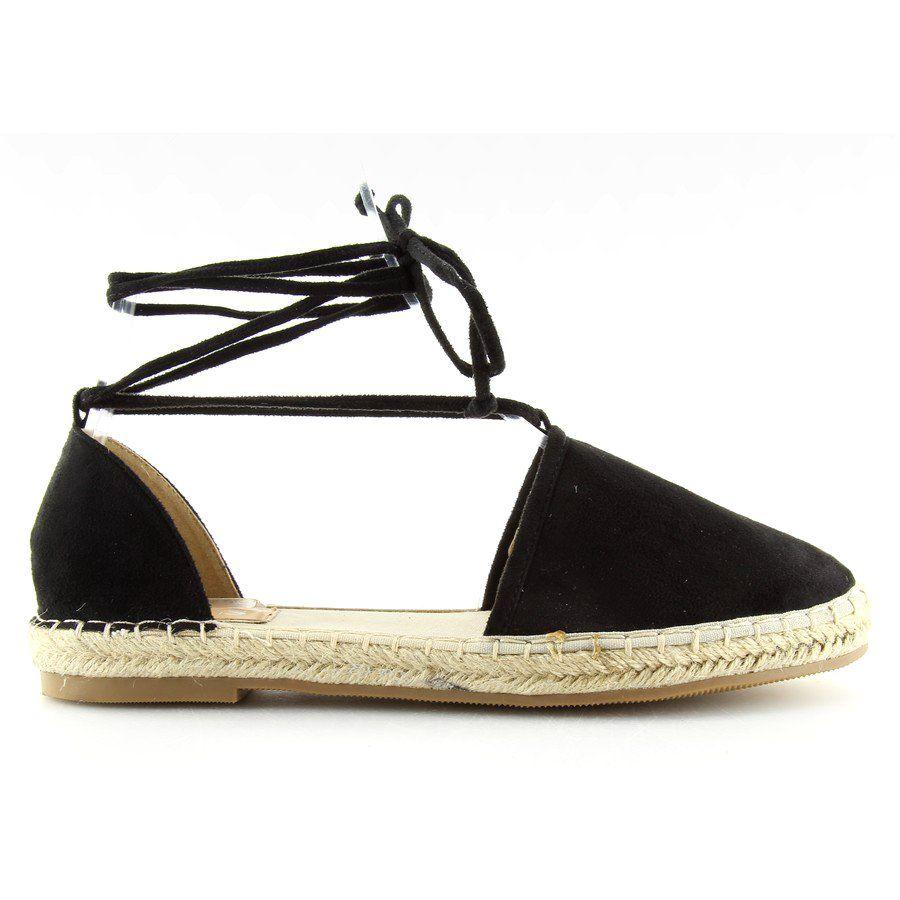 Espadryle Damskie Obuwiedamskie Espadryle Wiazane Na Kostke Czarne 431 P Obuwie Damskie Espadrilles Shoes Sandal Espadrille
