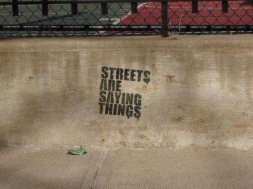 Silence: streets are talking. #streetart #graffiti