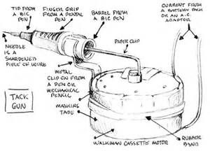 Diagram Of How To Make A Prison Tattooing Gun Tattoo Ideas