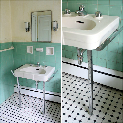 Prepping The Jadeite Bathroom For Holiday Guests