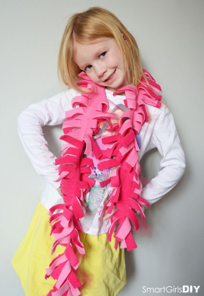 Easy DIY Fleece Scarf   Share Your Craft   Pinterest ...