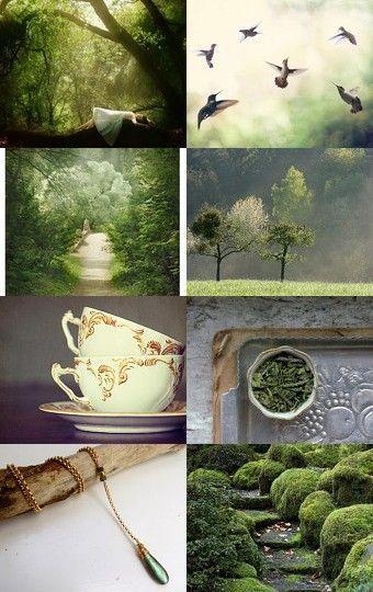 """""""Ein Garten voller grüner Energie, Frieden und Licht"""" Vorstand: Kurator: Barb ..., ... #moodboards"""