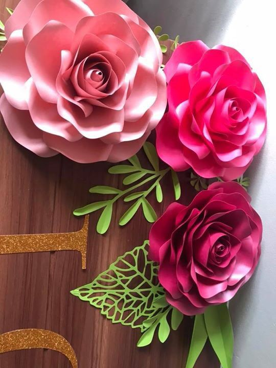 Here S The Crafty Sagittarius Small Rose Paper Flower Template