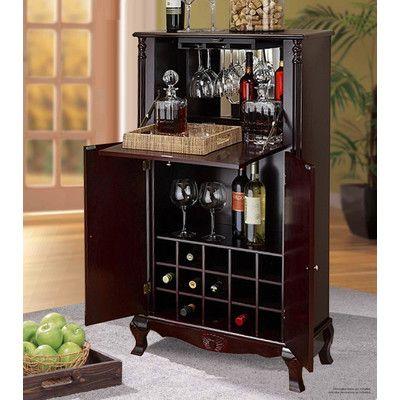 Jenlea 15 Bottle Wine Cabinet Reviews Wayfair Wine Cabinets Decor