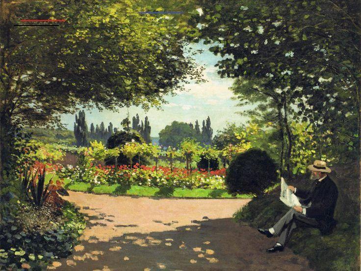 men's brown hat painting #Park #stay #picture #garden Claude Monet #1080P #wallpaper #hdwallpaper #desktop<br>