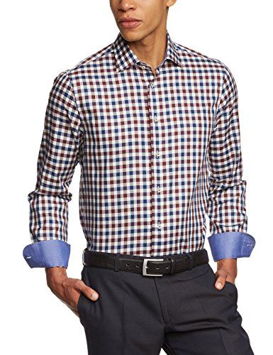 Tommy Hilfiger Tailored Herren Regular Fit Businesshemd JHN SHTCHK14424, Gr. Kragenweite: 43 cm, Mehrfarbig (Red 600) Tommy Hilfiger Tailored http://www.amazon.de/dp/B00JKIKD64/ref=cm_sw_r_pi_dp_uHowub15576WE