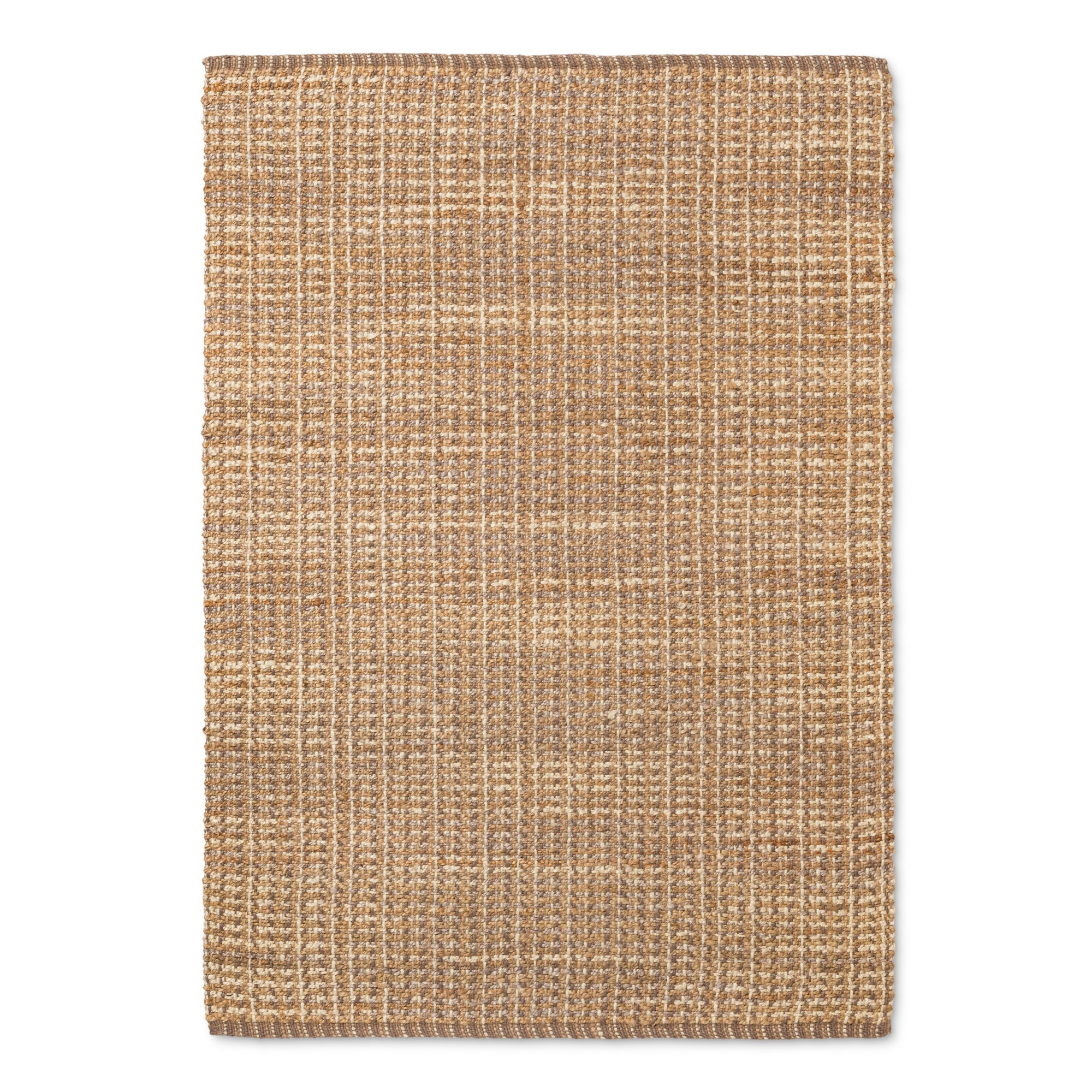 Basket Weave Woven Area Rug 5 X7 60 X84 Threshold Natural