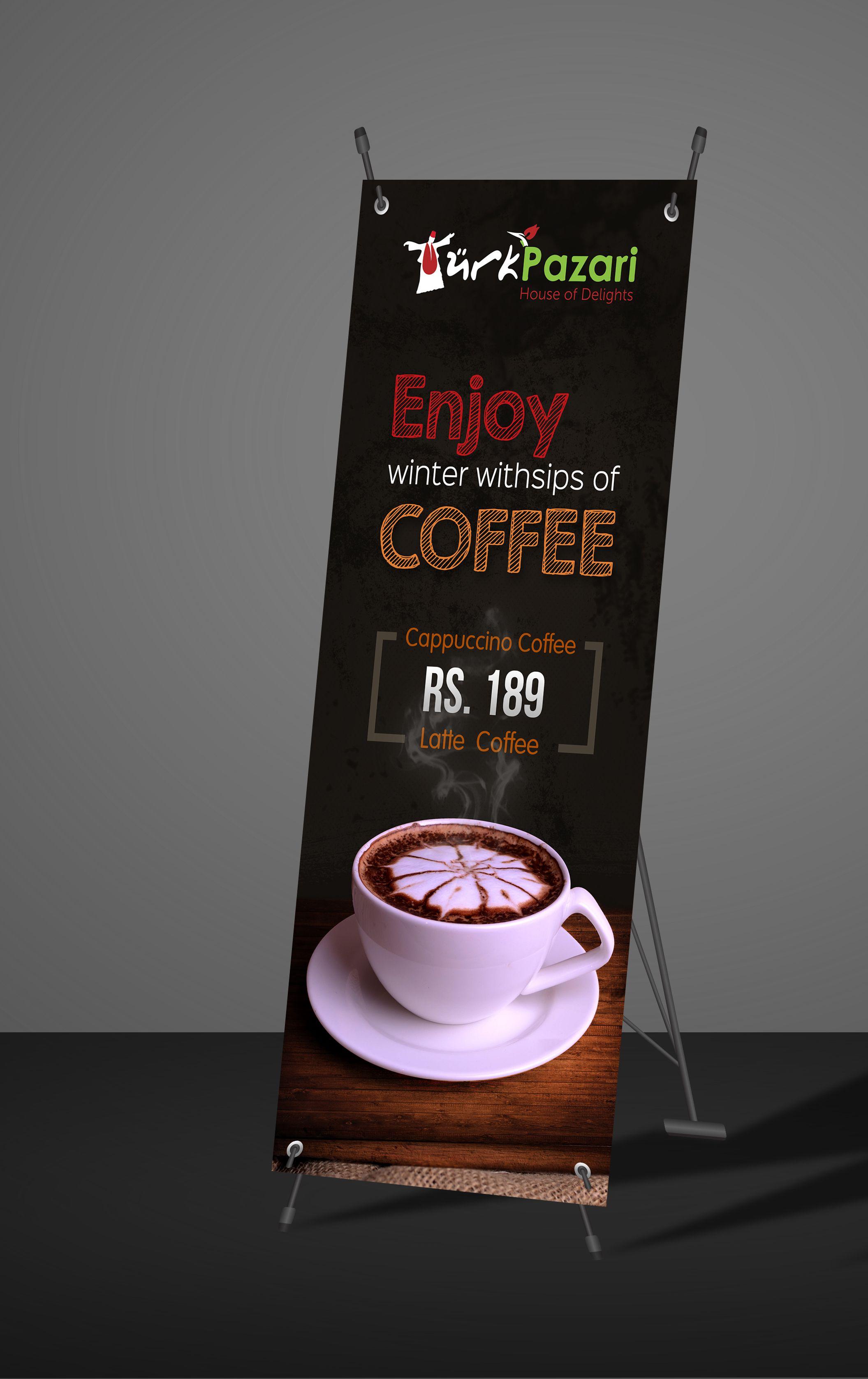 Banner Warung Kopi : banner, warung, Coffee, Standy, Rollover, Banner, Design, Design,, Company,