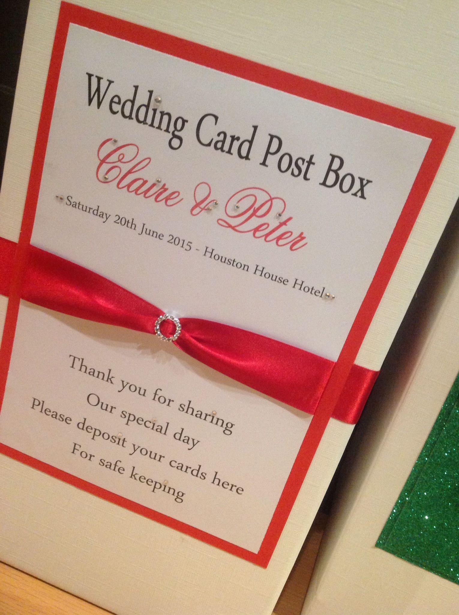 Thistle and rose wedding post box #scottishwedding   Personalised ...