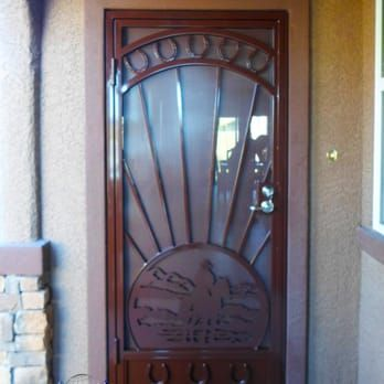 Cowboy Horse Security Door Yelp With Images Security