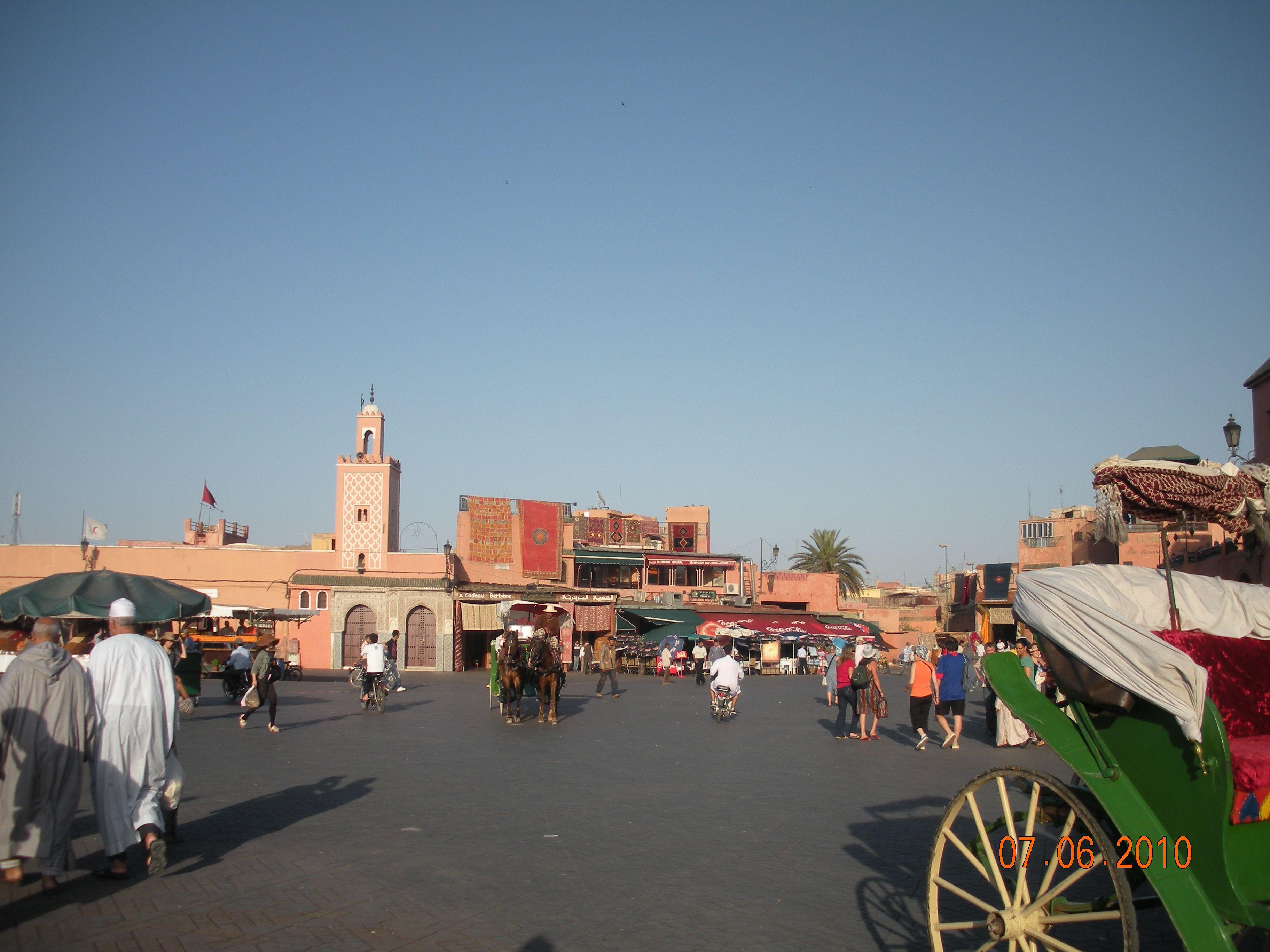 Marrakect Piazza El-Fna Marocco