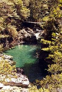 Pozon en el Rio Blanco, El Bolson Refugio Roca del Tiempo